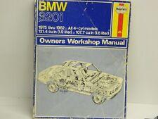 HAYNES Repair Manual BMW 320i 1975 - 1982 4 Cylinder Models # 276 GOOD INFO//