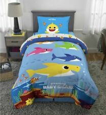 Baby Shark Comforter Kids Bed-in-a-Bag Twin Full Size Children's Bedding Shark
