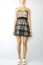 ASOS Petite Black Lace Strapless Dress Size 10 NWT