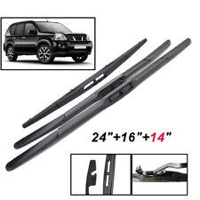 Front Rear Windscreen Wiper Set Windshield Blades For Nissan X-Trail T31 07-13