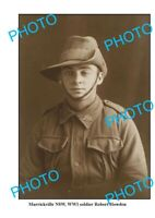 OLD 6 x 4 PHOTO WWI ANZAC SOLDIER ROBERT HOWDEN FROM MARRICKVILLE NSW
