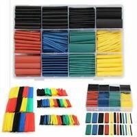 328pcs Cable Heat Shrink Tubing Sleeve Wire Wrap Tube 2:1 Assortment Kit Tools j