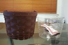 2008 Longaberger Merlot Small Fruit Basket Set Mint