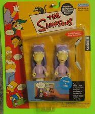 Playmates Wos Interactive Action Figures Simpsons Sherri & Terri Twins