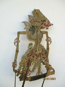 Marionnette wayang kulit silhouette theatre ombres figurine antique indonesien