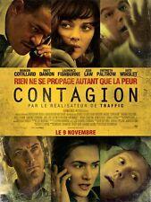 Affiche 40x60cm CONTAGION 2001 Soderbergh - Winslet, Jude Law, Cotillard NEUVE
