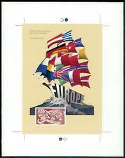 SAAR 298 EUROPARAT SONDERBLOCK 1979 EUROPA-WAHLEN PROBEDRUCK UNGEZÄHNT!! z2090