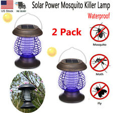 2x Solar Bug Zapper Lamp Electric Mosquito Insect Fly Killer Light Pest Control