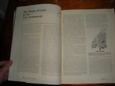 Biblical Arch Review 1978 & EXTRA article JEHOVAH New Test Watchtower Research