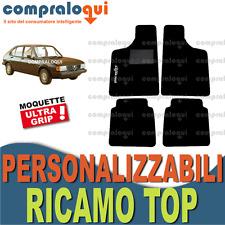 TAPPETINI per ALFA ROMEO ALFASUD MOQUETTE fondo GOMMA + SCEGLI LOGO TOP RICAMATO