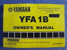 YAMAHA YFA1B BREEZE ATV QUAD RUNNER OWNERS SERVICE MANUAL LIT-11626-07-85