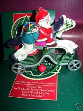 1991 Hallmark Ornament horse GALLOPING INTO CHRISTMAS limited edition