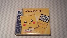 "Nintendo Limited Edition Pikachu Gameboy Advance SP 2001 Toys ""R"" Us Exclusive"