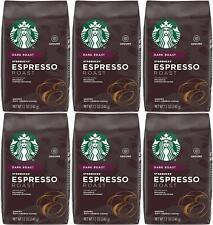 6 PACK Starbucks Espresso Dark Roast Ground Coffee Best Before January 2021