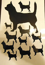 Smooth coated Chihuahua vinyl stickers, decals, for car, window