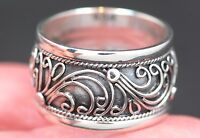 Handmade Bali Wave Designed Sterling Silver .925 Band/Promise Ring. Many Sizes.