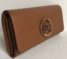 Neuf Michael Kors Fulton Rabat Portefeuille Continental Cuir Bagage