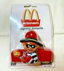 Vintage McDonald's Magnet HAMBURGLAR clip - New In Package 51613