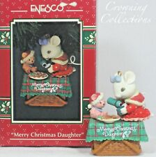 Enesco Merry Christmas Daughter Ornament Mouse Tea Party Treasury of Christmas