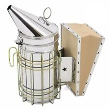 Stainless Steel Bee Hive Smoker With Heat Shield Protection Beekeeping Equipment