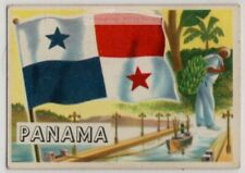 Flag Of Panama Latin America Canal Colon Vintage Trade Ad Card