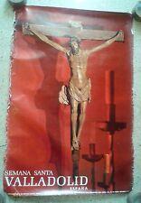 Vintage travel poster Semana Santa Valladolid Spain 1971 Easter Tourism Jesus