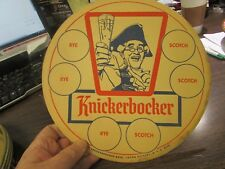 VINTAGE - RUPPERT KNICKERBOCKER BEER - TRAY LINER COASTER - 1950'S - EXCELLENT