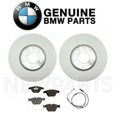 For BMW F10 535i Front Left & Right Disc Brake Rotors & Pads & Sensor Genuine
