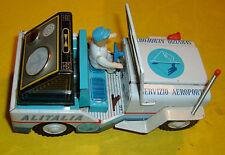 ALITALIA airport Jeep Baravelli tin toy ICHIKO JAPAN LATTA LITOGRAFATA vintag'60