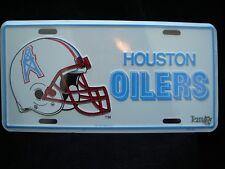 VTG! NEW * SEALED * HOUSTON OILERS METAL LICENSE PLATE * 1993 NFLP