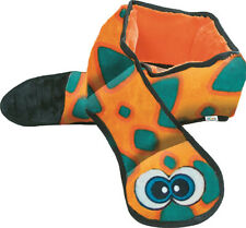 OUTWARD HOUND - Invincibles Plush Snake Orange/Blue Dog Toy - 6 Squeakers