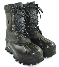 "Lacrosse Women's Black Leather Insulated 10"" shaft Winter Snow Boots Size 7"