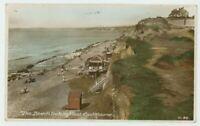 The Beach Looking West Southbourne Dorset Dearden & Wade W.98 RP Postcard, C032