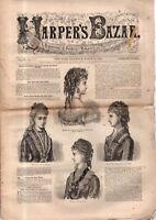 1876 Harper's Bazar March 11 - Breakfast caps, fancy costumes; Spring dresses