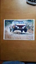 Fiat Abrth 124 Photo Signed  By Kivimaki