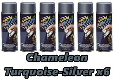 Performix Plasti Dip Chamäleon türkis silber 6 Stück Spray 11oz Spraydosen