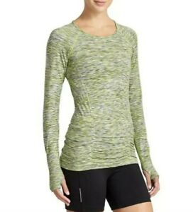 Athleta Fastest Seamless Ruched Athletic Track Top Space Dye Long Sleeve  Small