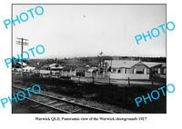 OLD 8x6 PHOTO WARWICK QUEENSLAND PANORAMA OF THE SHOWGROUNDS c1927