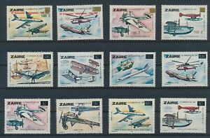 LO64946 Zaire aviation aircraft airplanes fine lot MNH