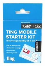 Ting Mobile GSM SIM Card for Unlocked Phones with 30$ Service Credit New