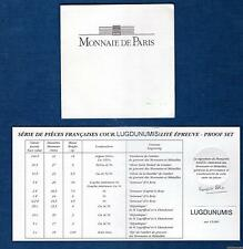 Certificat du coffret BE Belle Epreuve 1997 tirage 6436 exemplaires photo non co