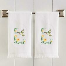 Herrschners® Glorious Hummingbird Terry Towel Pair Stamped Cross-Stitch