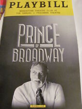 THE PRINCE OF BROADWAY Playbill Hal Prince Broadway New York Play Musical