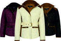 GIRLS QUILTED RIDING COAT JACKET EQUESTRIAN NEW PADDED WINTER WARM CHILD KIDS