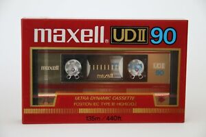 Maxell UD II 90 Audiokassette, OVP, Tape, Compact Cassette,  Jahrgang 85-86