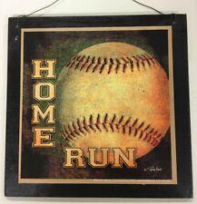 Home Run Baseball Boys Sports Bedroom Wood Wooden Wall Art Sign