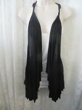 "D'closet Blouse ""Angel in Heaven"" Black White Sleeveless shawl over tank Small"