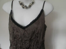 NEW with TAG   M&Co Lace Trimmed  Mink Strappy Top   16 Petite