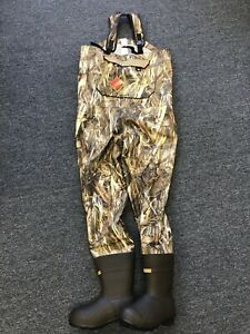 New Cabela's Women SHE Breathable Dry Plus Chest Wader True Timber DRT Camo Sz 8