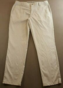 Puma Adult Size Waist 36 Inseam 32 Beige Golf Polyester Pants Stretch Golfer